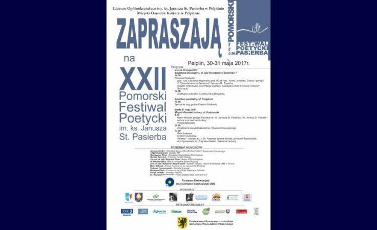 XXII Pomorski Festiwal Poetycki im. ks. Janusza St. Pasierba