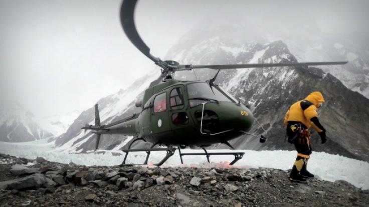 (K2 fot.  PAP/ Narodowa Zimowa Wyprawa na K2)