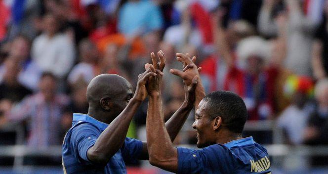 Radość po drugim golu dla Francji (fot. PAP/EPA)