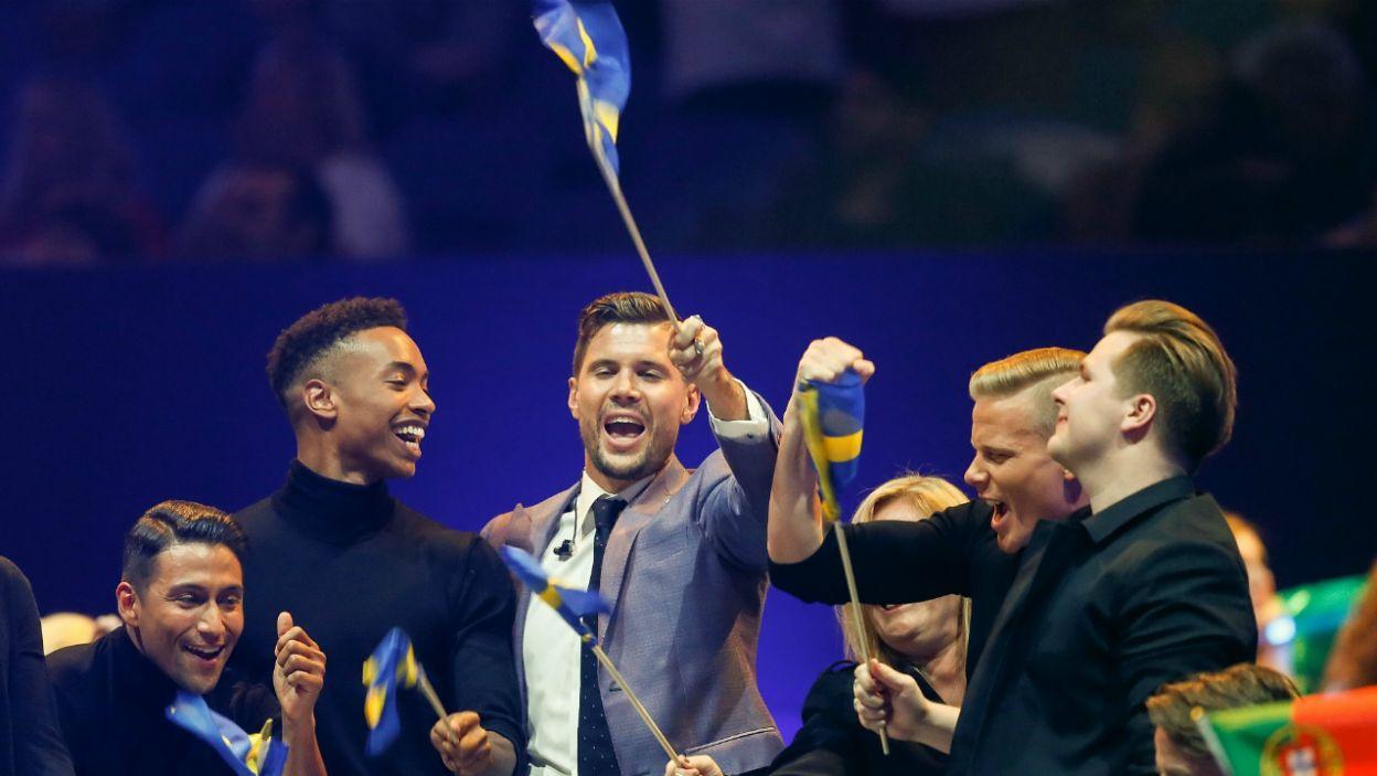 """W finale zaśpiewa również reprezentant Szwecji Robin Bengtsson z piosenką """"I Can't Go On""""(fot. PAP)"""
