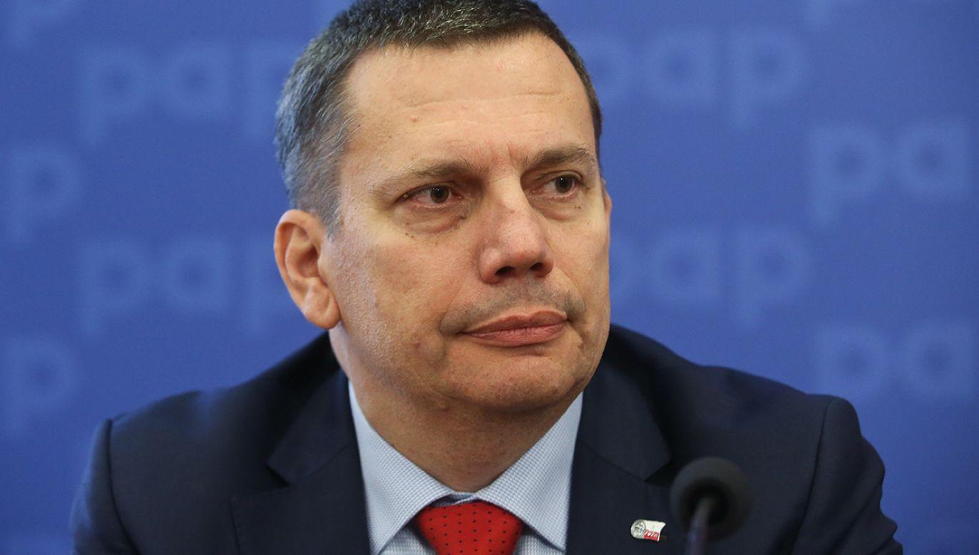 Członek zarządu PWPW Robert Malicki (fot. arch. PAP/Rafał Guz)