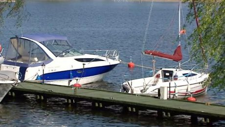 Podczas ubiegłorocznego suchego lata poziom wód w mazurskich jeziorach był niższy o 40 centymetrów.