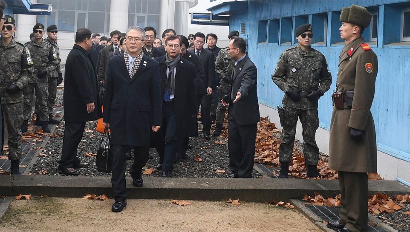 Przed ZIO w Pjongczangu Korea Płn. zgodziła się na rozmowy z Koreą Płd. (fot. PAP/EPA/SOUTH KOREA UNIFICATION MINISTRY)