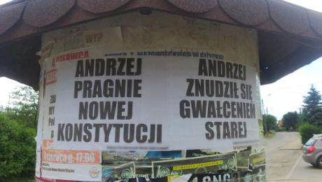 Za publiczne znieważenie prezydenta Rzeczypospolitej Polskiej grozi do 3 lat więzienia (fot. KPP Giżycko)