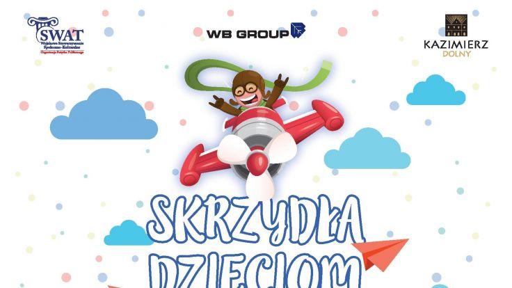 """Skrzydła Dzieciom"" (plakat organizatora)"