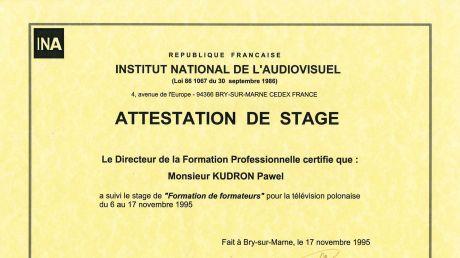 Staż w Instytucie Audiowizualnym w Paryżu