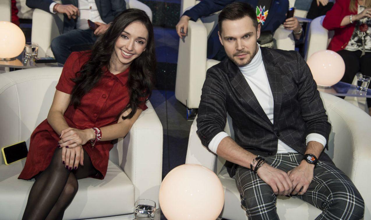 Sofia Ennaoui i Marek Kaliszuk stworzyli podczas Wielkiego Testu zgrany duet (fot. J. Bogacz/TVP)