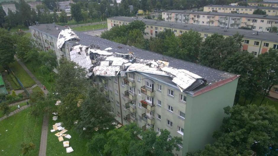 Zerwany dach w Bydgoszczy (fot.Twoje Info/Mirosław)