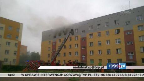 Film od widza: pożar na gorzowskim Górczynie