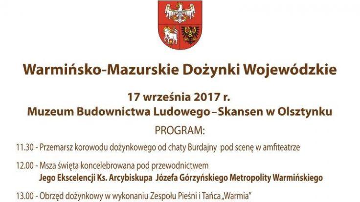 Dożynki odbędą się w Olsztynku w niedzielę 17 września