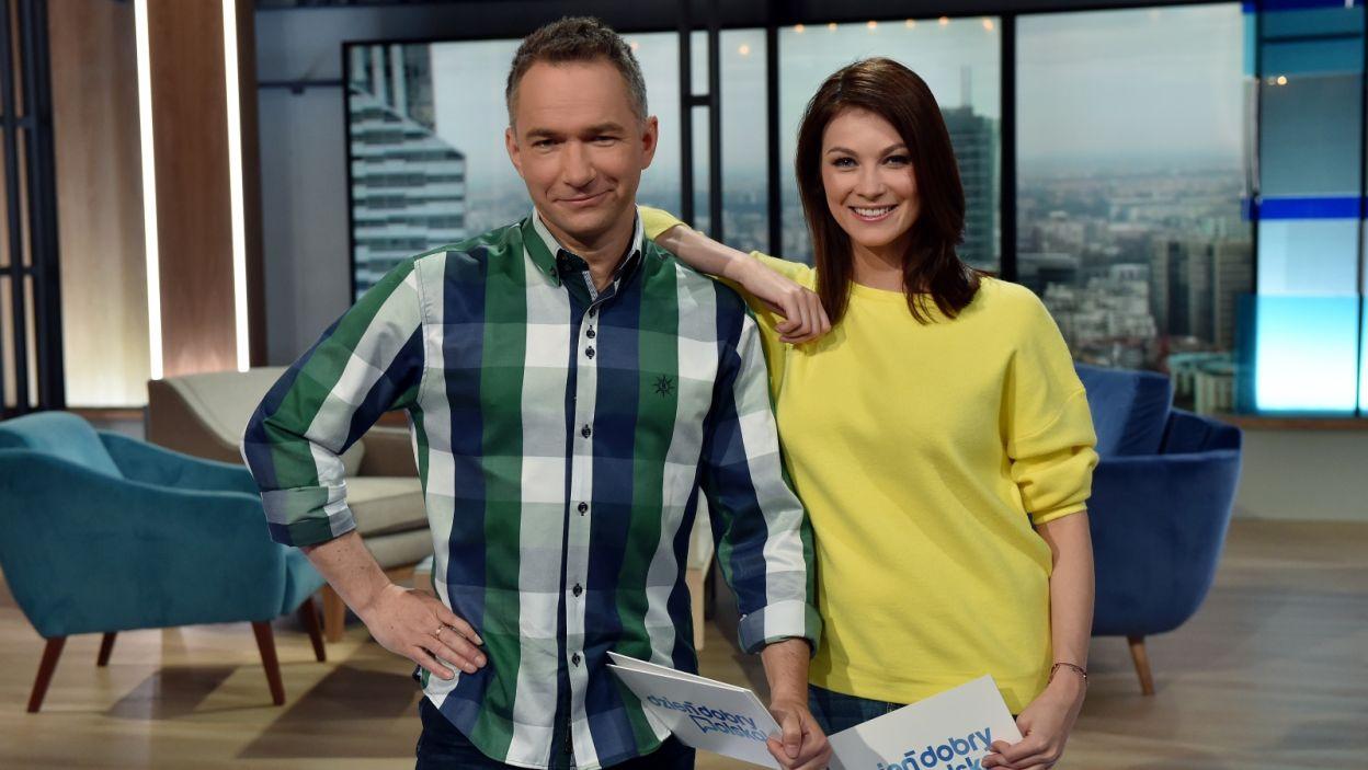 Pierwsze wydanie programu poprowadzili Anna Lucińska i Rafał Patyra (fot. Ireneusz Sobieszczuk/TVP)