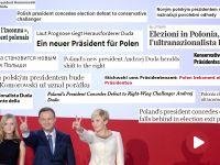 """Świat o triumfie Dudy: szok, eurosceptyk prezydentem. """"Wyborcy chcą nowych twarzy, nie wszyscy mają poczucie dobrobytu"""""""
