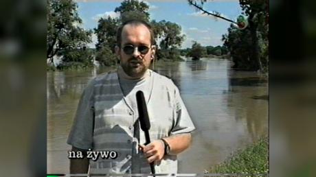 Adam Rosiński, relacja na żywo z okolic Oławy (fot. arch. TVP3 Wrocław)