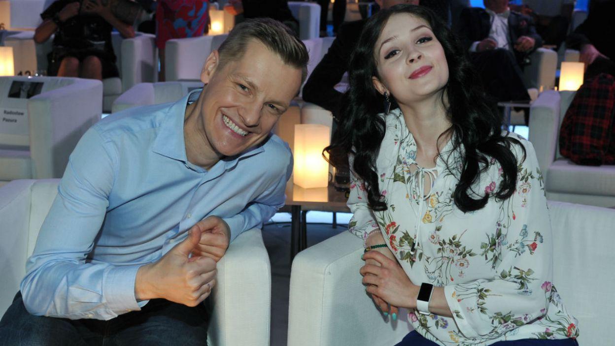 Do rywalizacji przystąpili m.in. Marcin Mroczek i Anna Matysiak... (fot. TVP/K.Kurek)