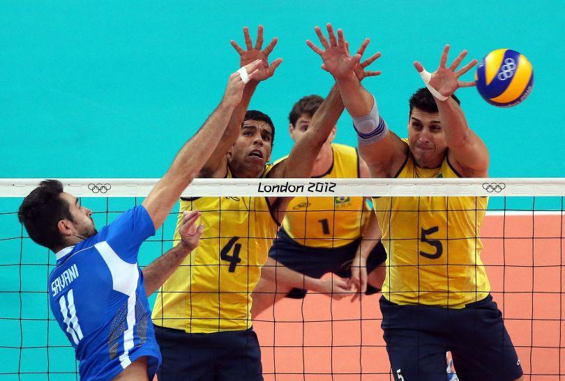 Brazylijczycy zagrali fenomenalnie w bloku (fot.PAP/EPA)