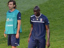 Andrea Pirlo i Mario Balotelli (fot.Getty Images)