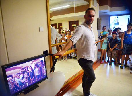 Wizyta młodzieży z Winnicy na Ukrainie w TVP3 Kielce,01.08.2017