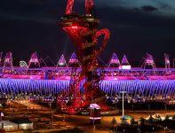 Ceremonii towarzyszyła iluminacja Stadionu Olimpijskiego (fot. Getty Images)