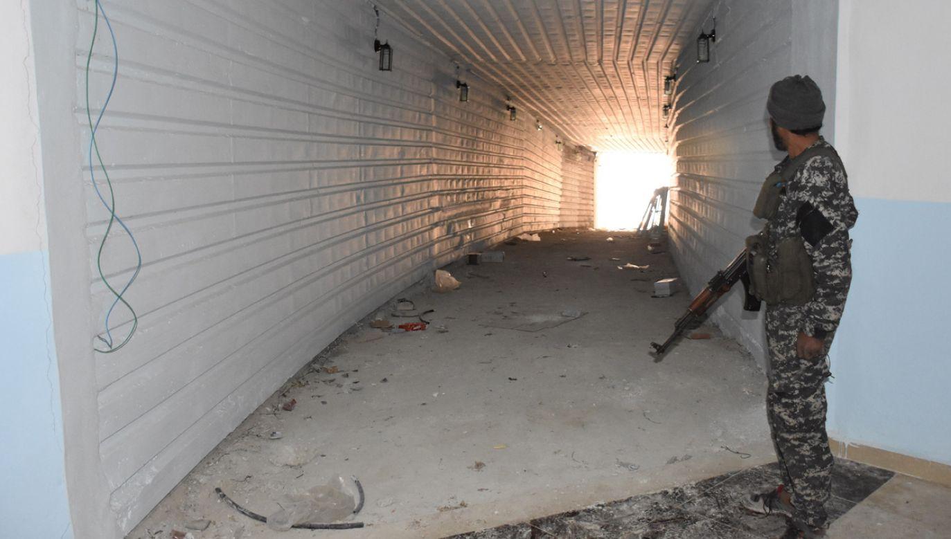 Podziemna baza terrorystów w Afrin (fot. by Saher el Hacci/Anadolu Agency/Getty Images)