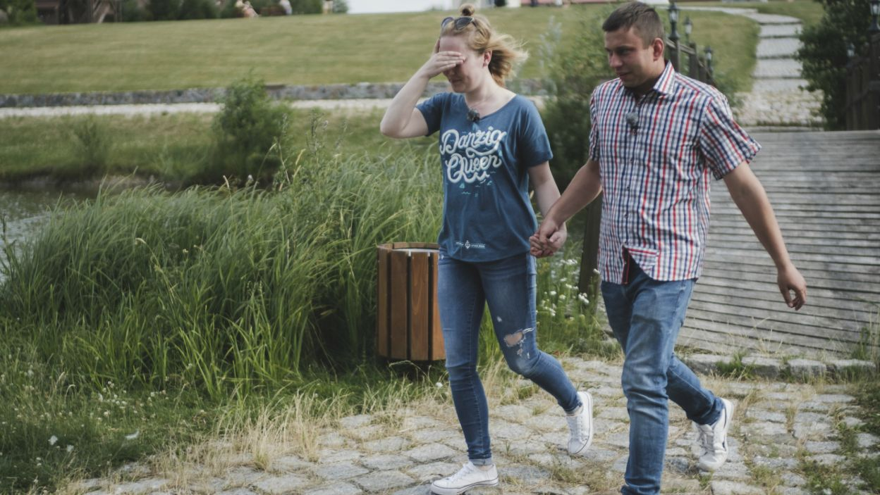 Krzysztof jednak źle ulokował swoje uczucia. Okazał zainteresowanie Kasi i został odrzucony (fot. TVP)