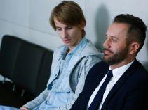 W sądzie jest również jej ciężko chory syn, czekający na dawcę (fot. A. Grochowska)