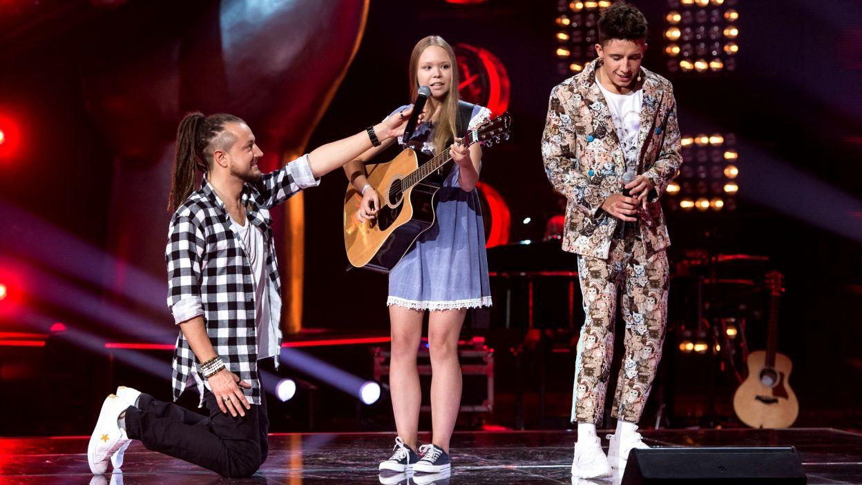 Maja w drużynie Dawida znalazła się po kilku pierwszych dźwiękach piosenki. To był świetny występ (fot. J. Bogacz/TVP)