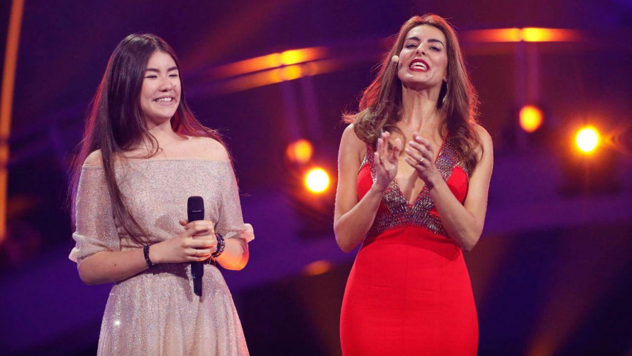 Pojawiła się także zwyciężczyni Eurowizji Junior. Polina Bogusiewicz reprezentowała Rosję (fot. Andreas Putting/eurovision.tv)