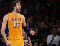 Pau Gasol - skrzydłowy Los Angeles Lakers, kapitan mistrzów Europy (fot. Getty)