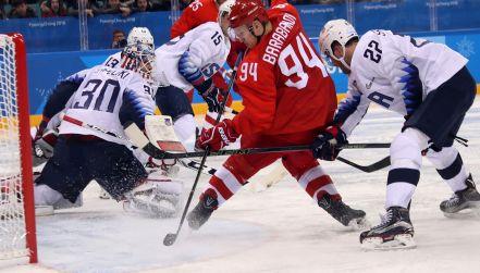 Grupa B, Olimpijczycy z Rosji – USA (bramki)