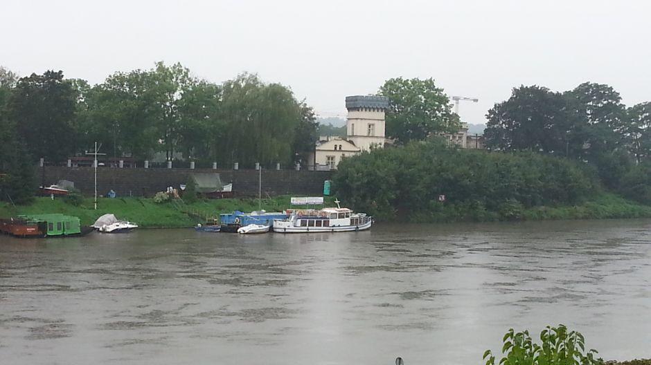 Nadchodzi powódź? Wisła w rejonie Salwatora, fot. Tadeusz Pokorny