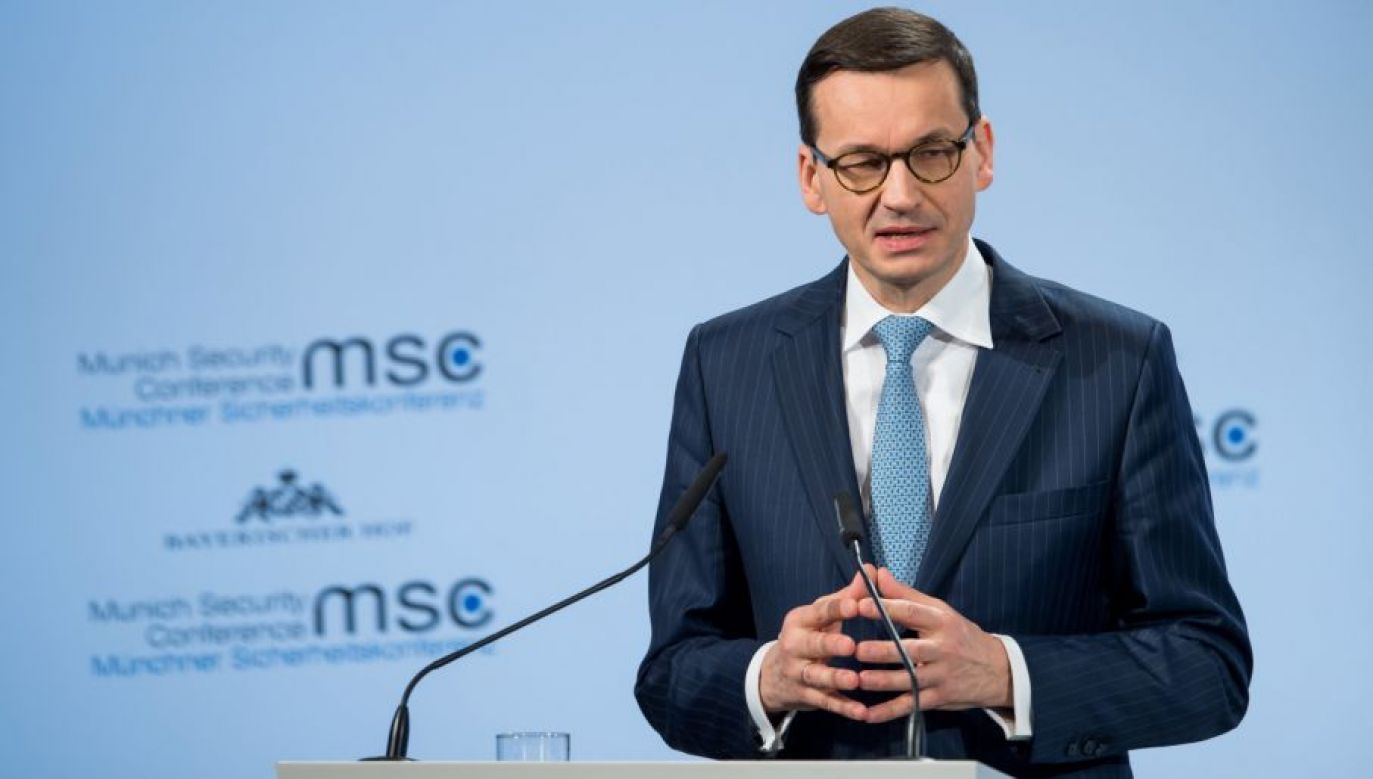 Premier Mateusz Morawiecki (fot. PAP/EPA/KUHLMANN / HANDOUT)