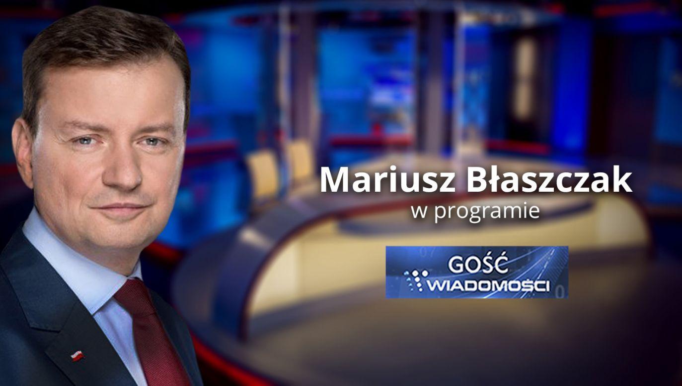 Szef MSWiA Mariusz Błaszczak (fot. TVP Info)