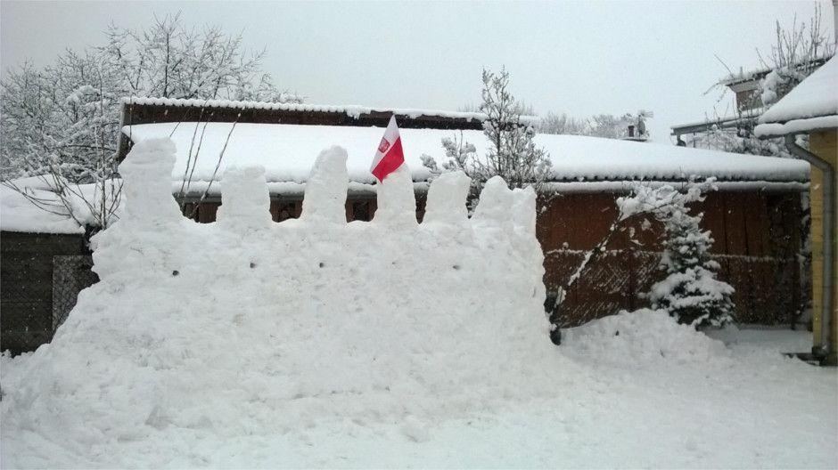 Przed bitwą na śnieżki w Babicach