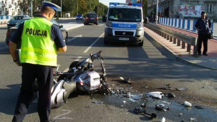 Motocykliści spowodowali 8 wypadków na terenie Elbląga w 2016 roku