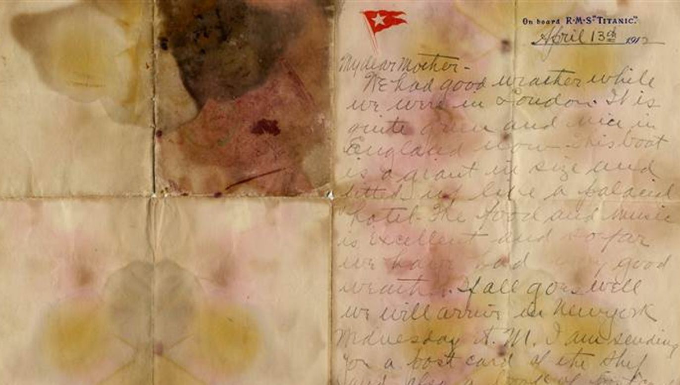 List z Titanica idzie pod młotek w domu aukcyjnym Henry Aldridge and Son (fot. Henry Aldridge and Son)