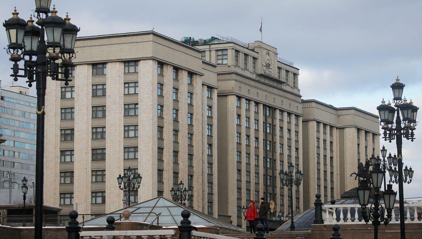Budynek Dumy Państwowej, niższej izby rosyjskiego parlamentu (fot. REUTERS/Maxim Shemetov)