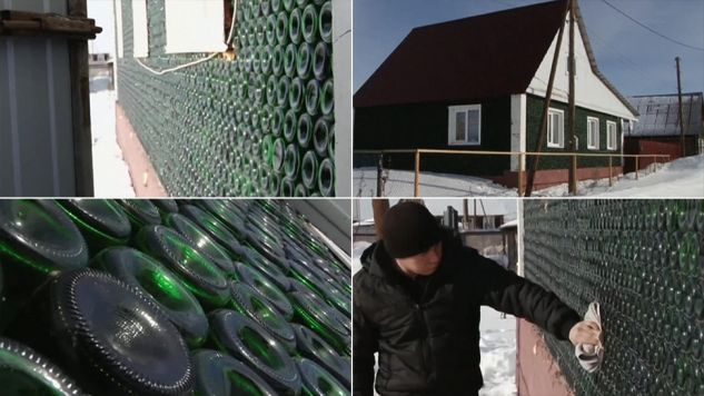 Konstruktora w zbieraniu wspierała cała wieś (fot. TVP Info)