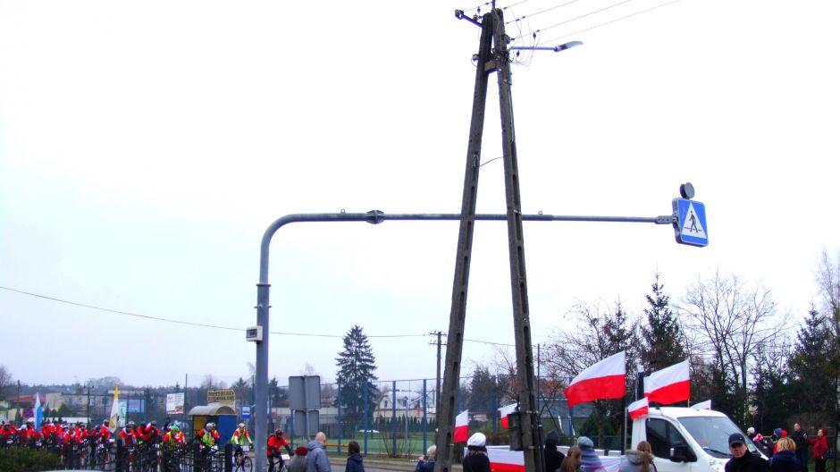 Do Brzozy dojeżdża biało-czerwona Rowerowa Brzoza (fot. Bożena Sas)