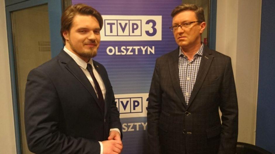 Michał Wypij, doradca ministra nauki i szkolnictwa wyższego oraz prof. Jerzy Przyborowski, prorektor ds. kształcenia UWM