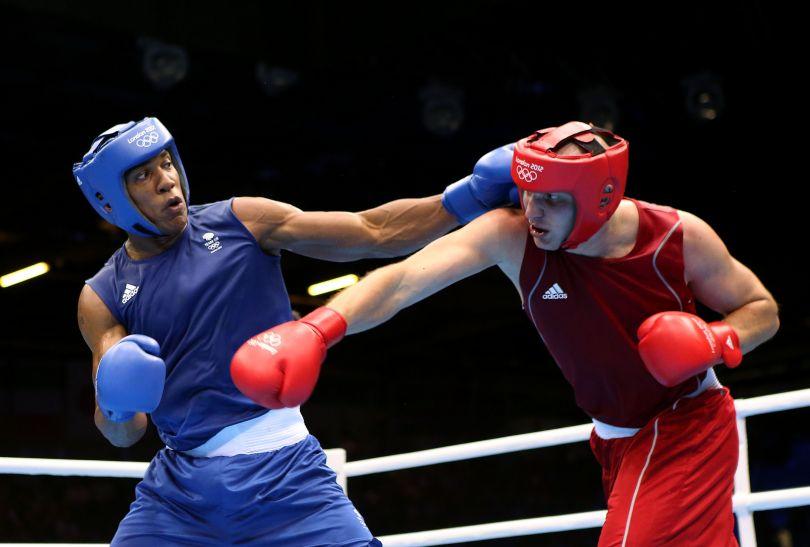 Joshua do finału awansował dzięki wygranej walce z Ivanem Dychko z Kazachstanu (fot. Getty Images)