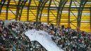Wielka koszulka reprezentacji Niemiec na trybunach stadionu w Gdańsku (fot. Getty Images)