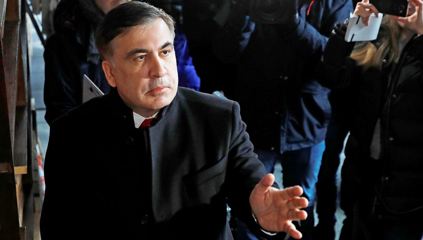 Micheil Saakaszwili przebywa w Holandii z żoną i synami (fot. REUTERS/Kacper Pempel)