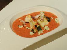 Chłodnik z malinowych pomidorów i truskawek