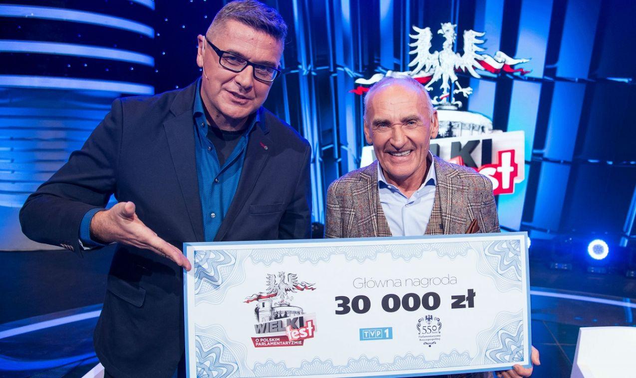 Zwycięzcami Wielkiego Testu zostali Czesław Lang i Piotr Sobczyński (fot. TVP)