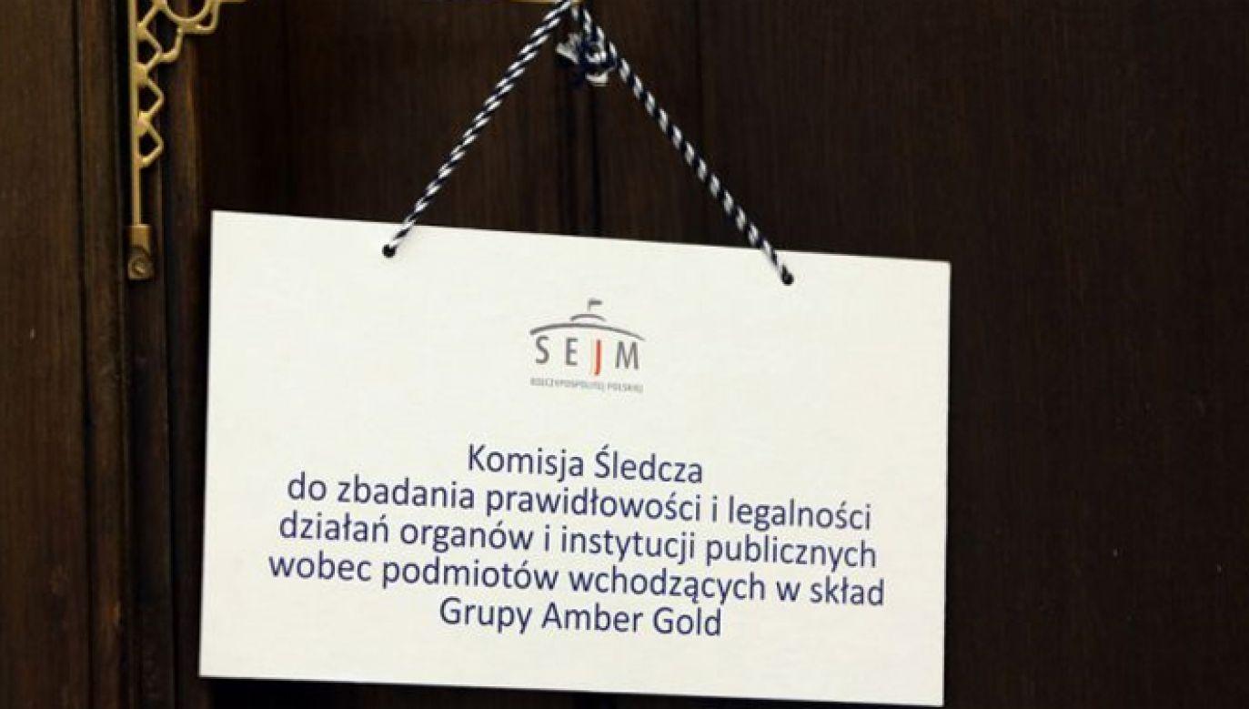 Posiedzenie komisji śledczej ds. Amber Gold było niejawne (fot. TVP Info)