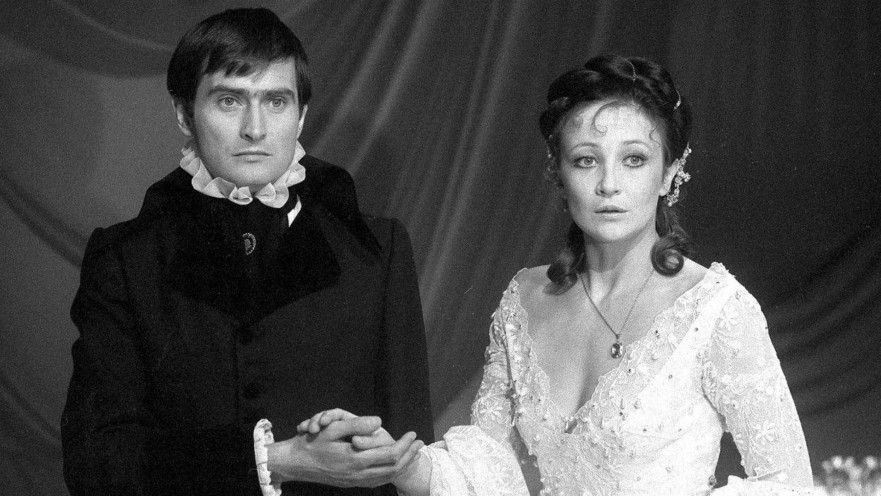 """Z Olgierdem Łukaszewiczem w """"Nocy weneckiej"""" Alfreda de Musset (1978) w reż. Marii Wachowiak (fot. Z. Januszewski)"""