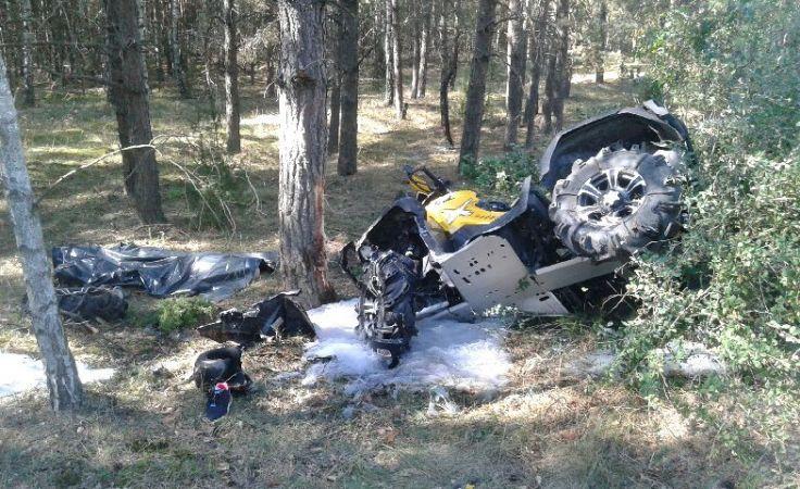 W Chrośnej zginął 43-latek, kierujący czterokołowcem (fot. KWP)
