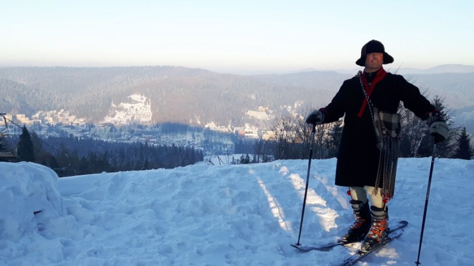 Bartek Koszarek-Benkowy na Górze Krzyżowej w Krynicy-Zdoju  (fot. mmas)