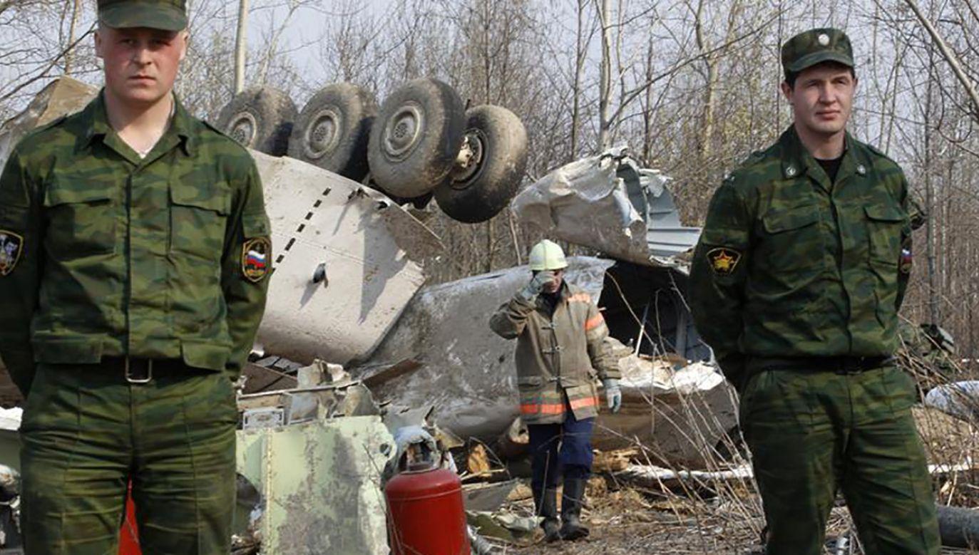 Wrak tupolewa, który rozbił się w Smoleńsku 10 kwietnia 2010 r. (fot. REUTERS/Sergei Karpukhin)