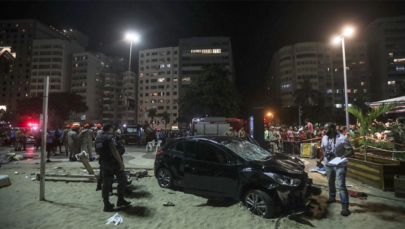 Kierowca zbiegł z miejsca wypadku, ale został szybko zatrzymany (fot. PAP/EPA/Antonio Lacerda)